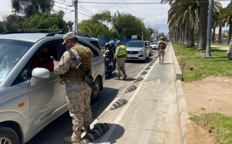 Intensas fiscalizaciones de cuarentena y restricción vehicular durante el fin de semana