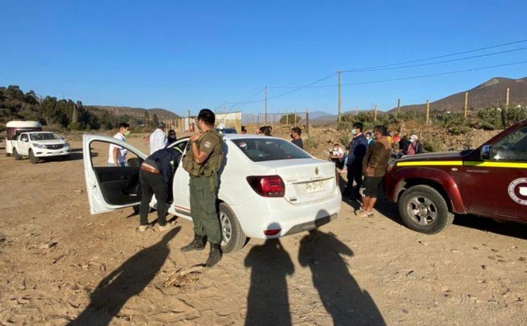 8 personas fueron detenidas por una carrera a la chilena ilegal en la localidad de Quilimarí en Los Vilos