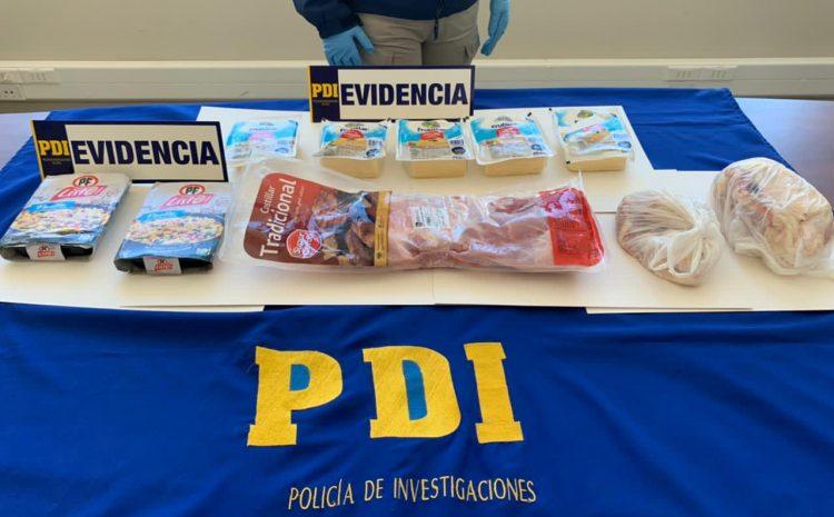 En distintas diligencias PDI detiene a sujetos por robo a negocios de alimentos
