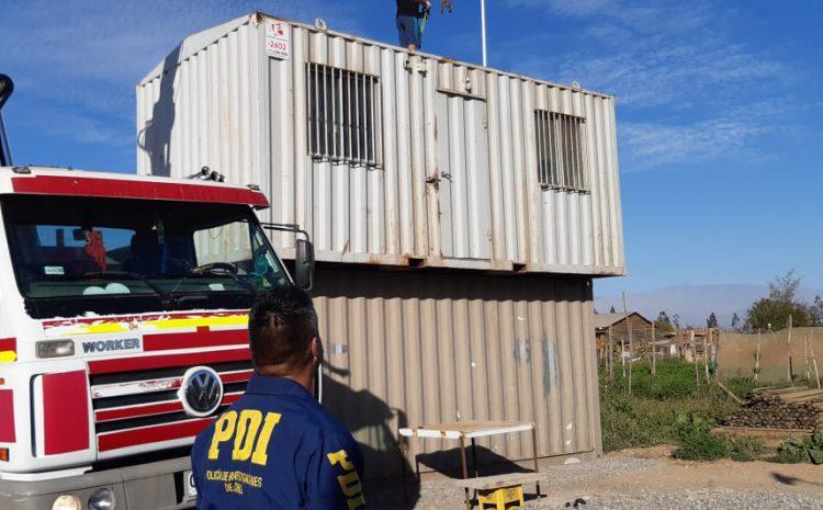 PDI recupera en Vallenar containers robados con especies desde Pan de Azúcar