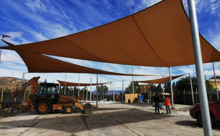 Autoridades visitaron las obras de la nueva plaza «Elige Vivir Sano» en la comuna de Illapel