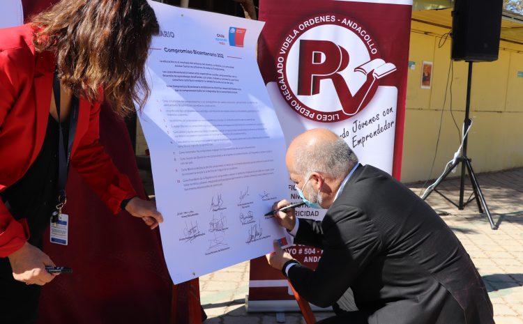 Seis Liceos de la región se comprometieron en mantener proyectos educativos de calidad