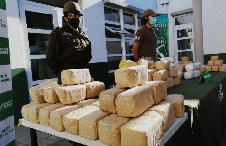 Historica incautación de drogas en la región: Carabineros decomisó más de $16 mil millones