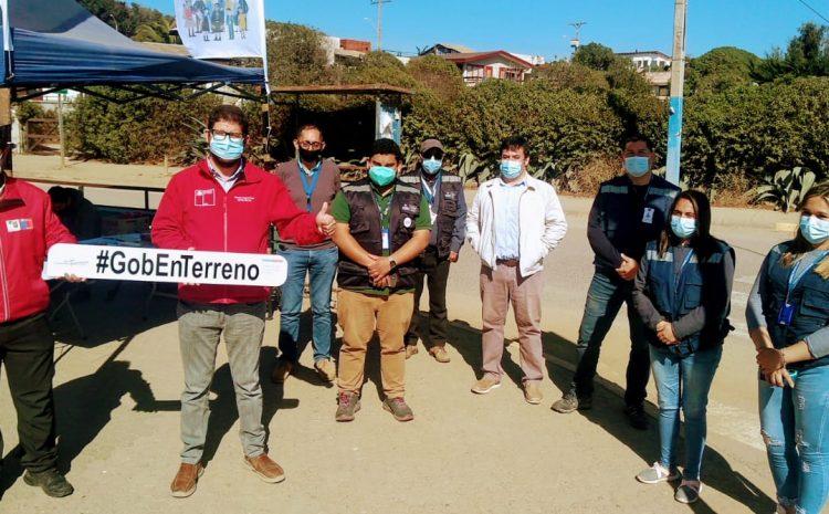 Vecinos de Pichidangui conocen beneficios de red de protección social en un nuevo Gobierno en Terreno
