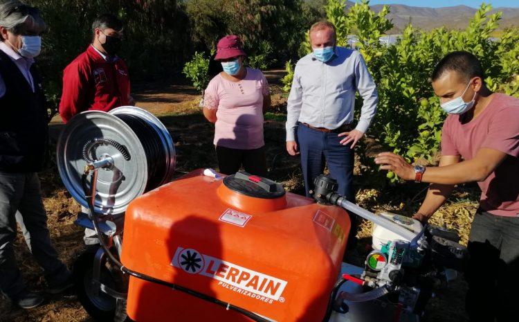 Maquinaria agrícola facilitará la labor productiva de campesinos de Punitaqui
