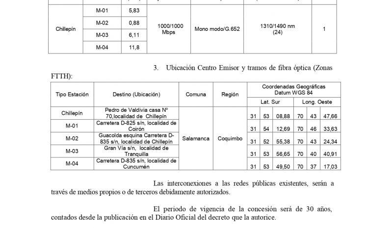 Subsecretaría de Telecomunicaciones recibe solicitud presentada por la Sociedad CONREC COMUNICACIONES SPA