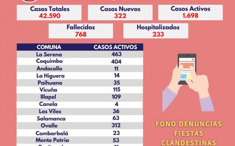 34 casos nuevos en la Provincia del Choapa