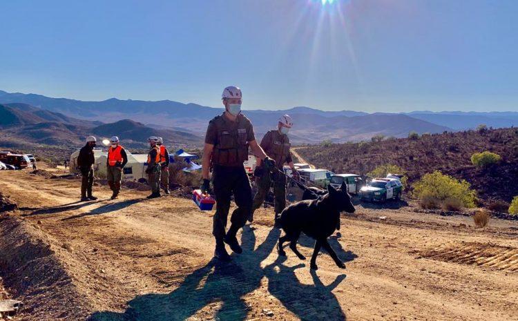 Accidente minero en Limarí: Continúan el rescate de persona desaparecida