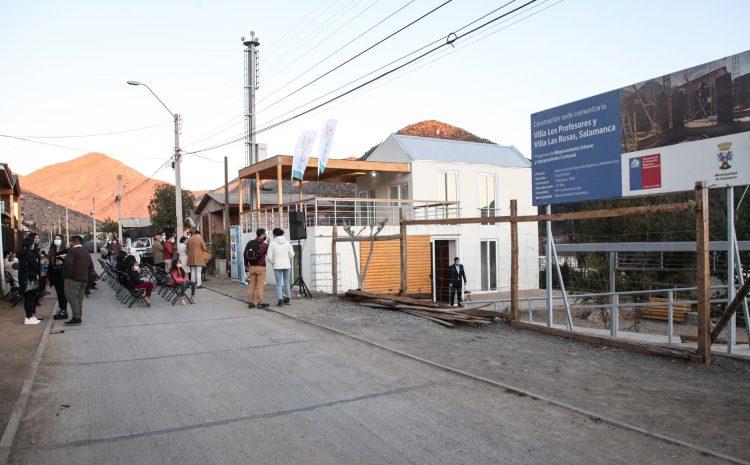 Vecinos de Villa Los Profesores y Villa Las Rosas inauguran nuevas sedes sociales