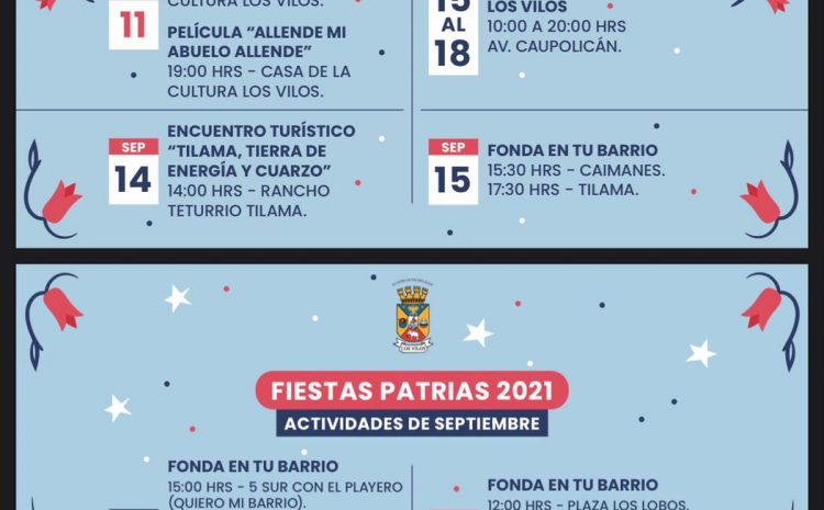 Los Vilos anuncia plan de Fiestas Patrias para la comuna